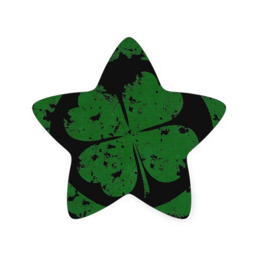 Lucky Clover Star Sticker