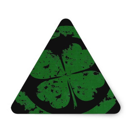 Lucky Clover Triangle Sticker