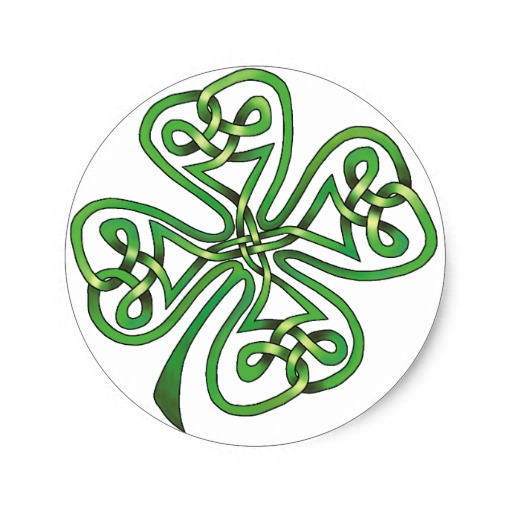 Four-Leaf Clover Classic Round Sticker
