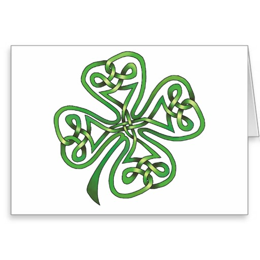 Four-Leaf Clover Greeting Card