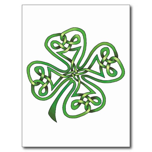 Four-Leaf Clover Postcard