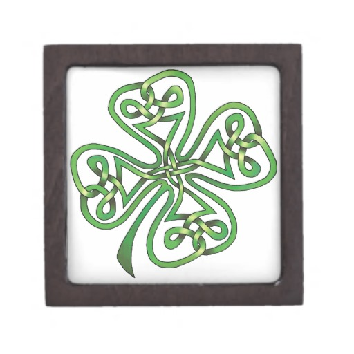 Four-Leaf Clover Premium Trinket Boxes