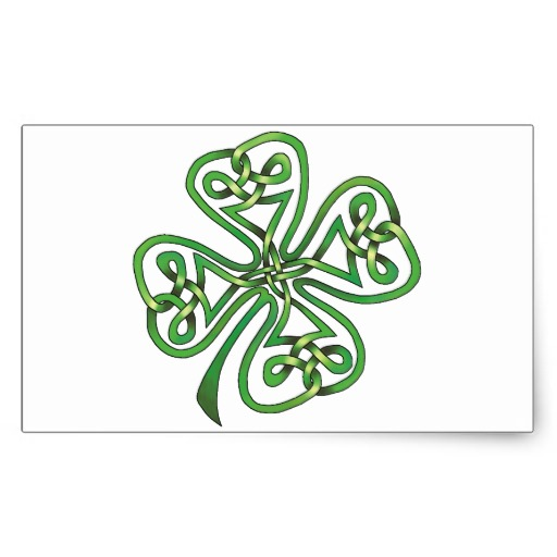 Four-Leaf Clover Rectangular Sticker