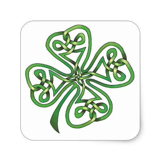 Four-Leaf Clover Square Sticker