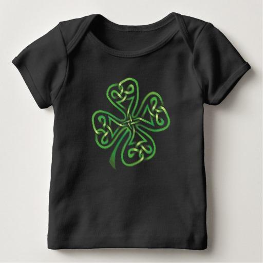 Twisting Four Leaf Clover Baby American Apparel Lap T-Shirt