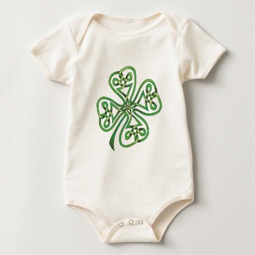 Twisting Four Leaf Clover Baby American Apparel Organic Bodysuit