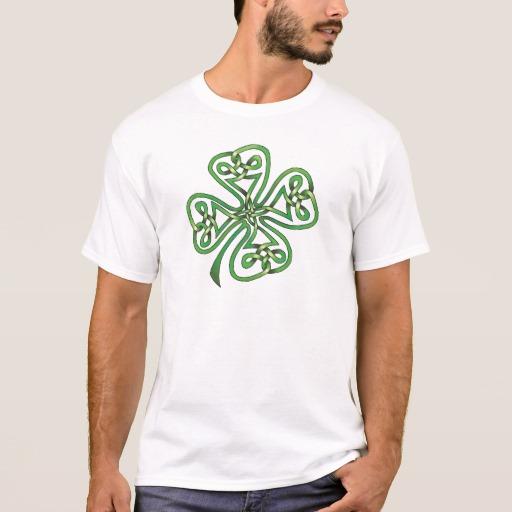 Twisting Four Leaf Clover Basic T-Shirt