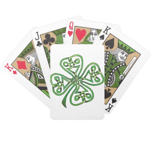 Twisting Four Leaf Clover Bicycle Playing Cards