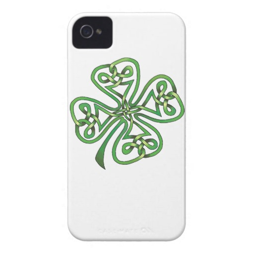 Twisting Four Leaf Clover Case-Mate iPhone 4 Barely There Universal Case