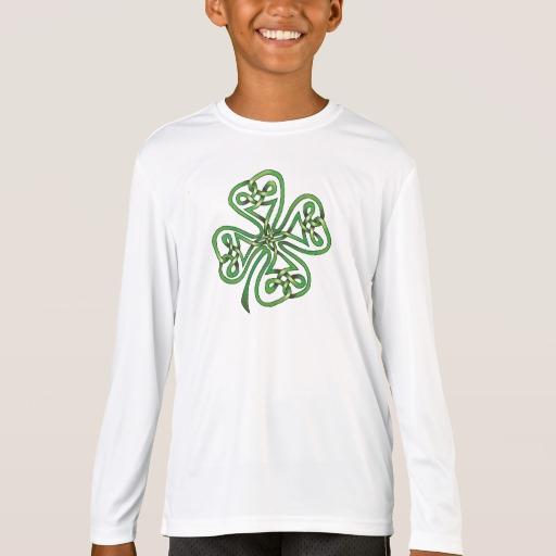 Twisting Four Leaf Clover Kids' Sport-Tek Competitor Long Sleeve T-Shirt