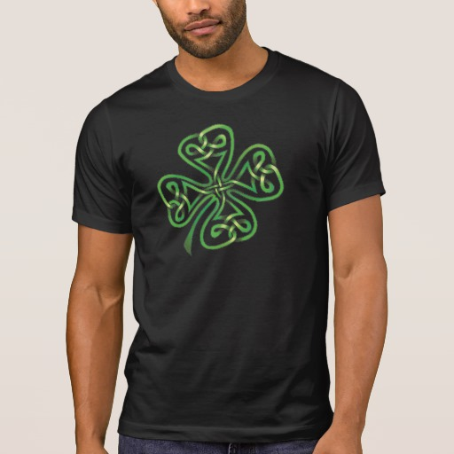 Twisting Four Leaf Clover Men's Alternative Apparel Crew Neck T-Shirt