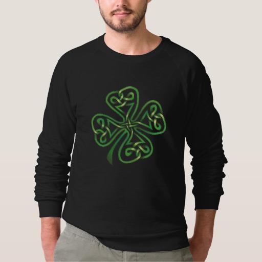 Twisting Four Leaf Clover Men's American Apparel Raglan Sweatshirt