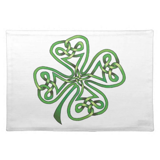 "Twisting Four Leaf Clover Placemats  20"" x 14"""