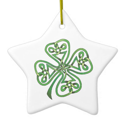 Twisting Four Leaf Clover Star Ornament