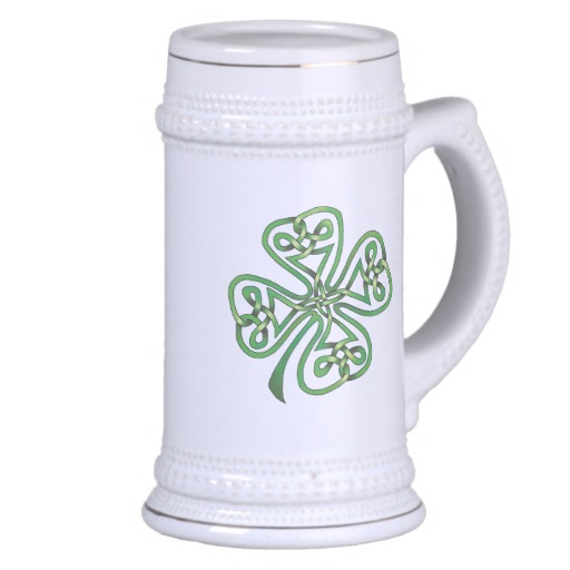 Twisting Four Leaf Clover Stein