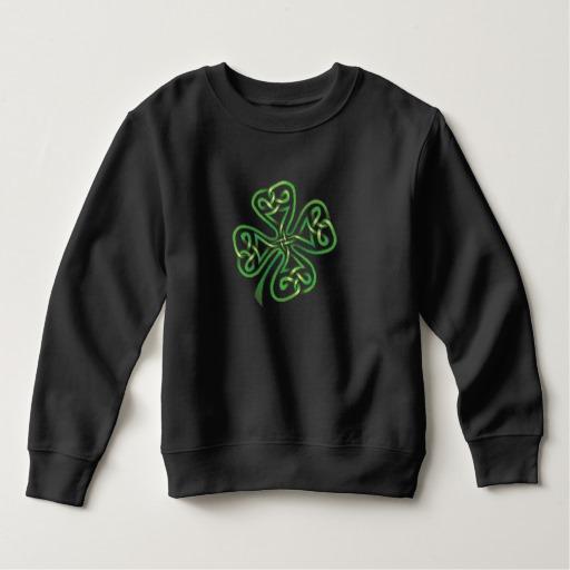 Twisting Four Leaf Clover Toddler Fleece Sweatshirt