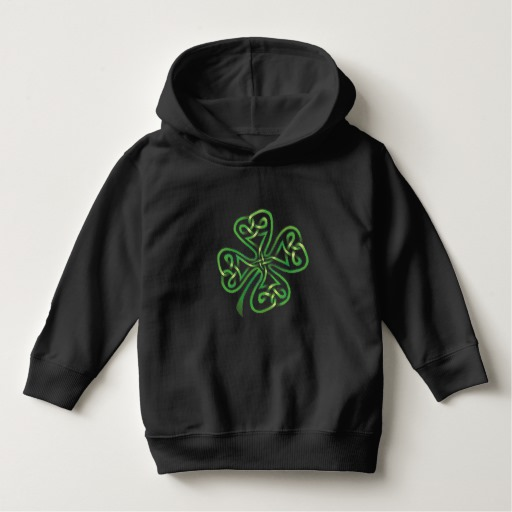Twisting Four Leaf Clover Toddler Pullover Hoodie