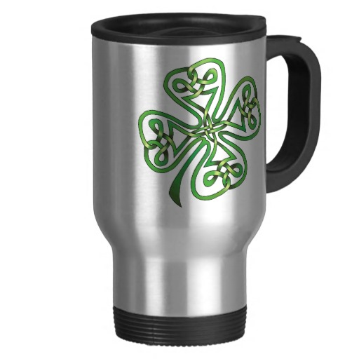 Twisting Four Leaf Clover Travel/Commuter Mug