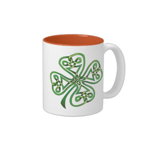 Twisting Four Leaf Clover Two-Tone Mug