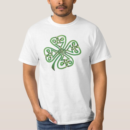 Twisting Four Leaf Clover Value T-Shirt