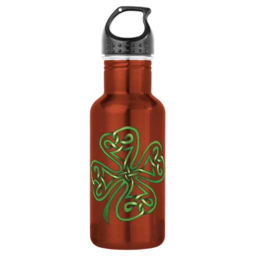 Twisting Four Leaf Clover Water Bottle