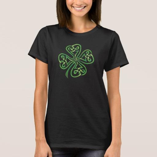 Twisting Four Leaf Clover Women's Basic T-Shirt