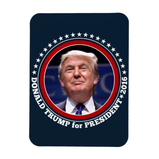 "Donald Trump for President 2016 3""x4"" Photo Magnet"