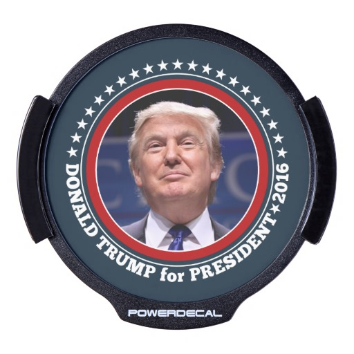 Donald Trump for President 2016 LED Window Decal