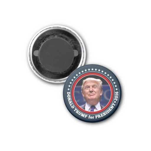 Donald Trump Photo - President 2016 1 Inch Round Magnet