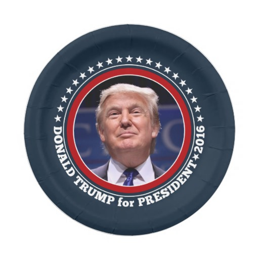 Donald Trump Photo - President 2016 7 Inch Paper Plate