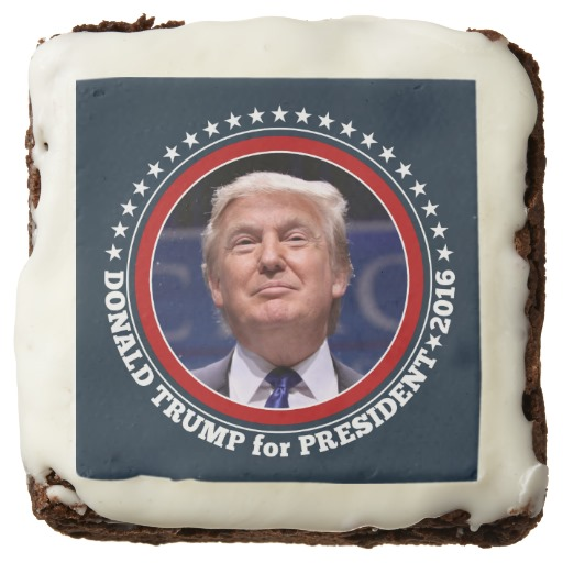 Donald Trump Photo - President 2016 Square Brownie