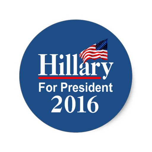 Hillary For President 2016 Classic Round Sticker