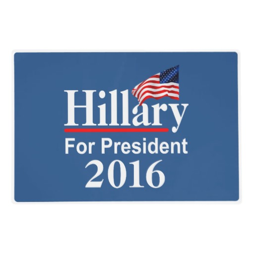 Hillary For President 2016 Laminated Placemat