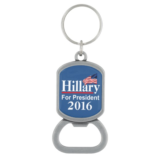 Hillary For President 2016 Rectangle Vintage Pewter