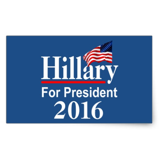 Hillary For President 2016 Rectangular Sticker