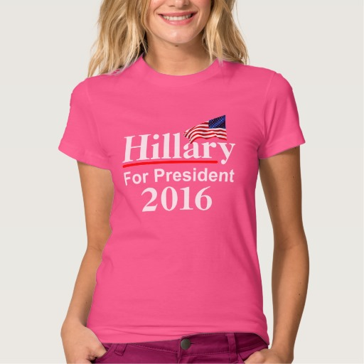 Hillary For President 2016 Women's American Apparel Fine Jersey T-Shirt