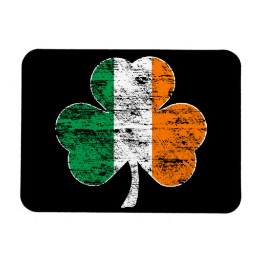 "Distressed Irish Flag Shamrock 3""x4"" Photo Magnet"