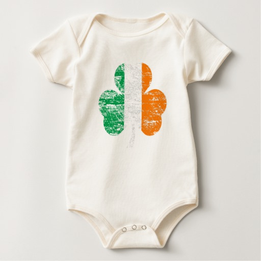 Distressed Irish Flag Shamrock Baby American Apparel Organic Bodysuit