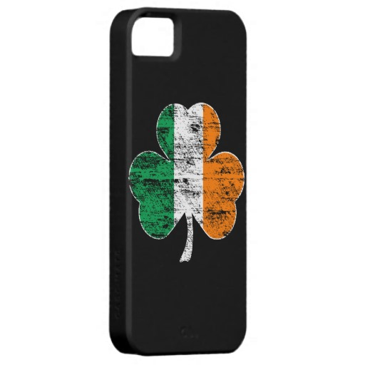 Distressed Irish Flag Shamrock Case-Mate Barely There iPhone 5/5S Case