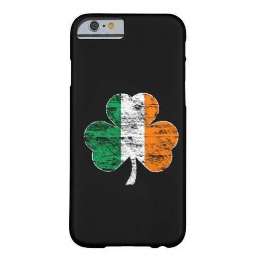 Distressed Irish Flag Shamrock Case-Mate Barely There iPhone 6/6s Case