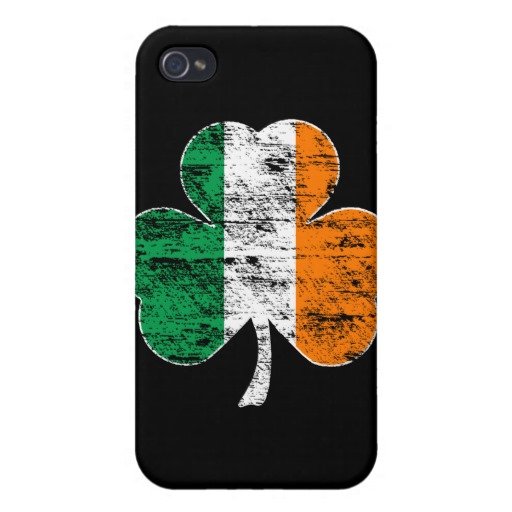 Distressed Irish Flag Shamrock Case Savvy iPhone 4 Matte Finish Case