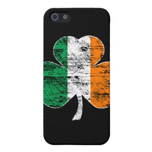 Distressed Irish Flag Shamrock Case Savvy Matte Finish iPhone 5/5S Case