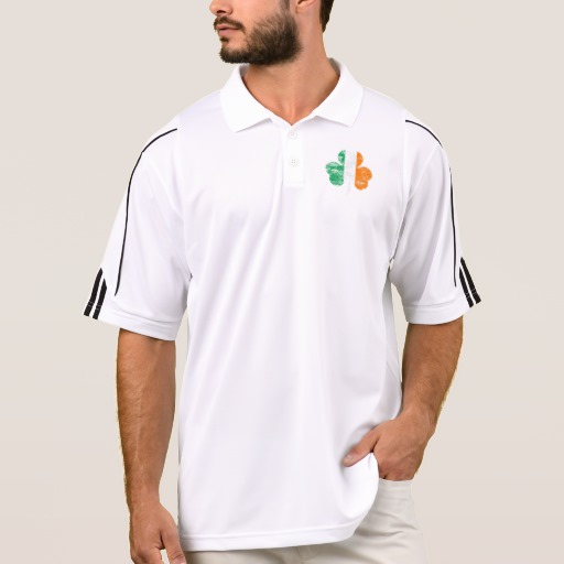 Distressed Irish Flag Shamrock Men's Adidas Golf ClimaLite® Polo Shirt