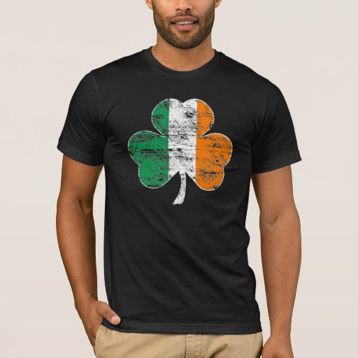 Distressed Irish Flag Shamrock Men's Basic American Apparel T-Shirt