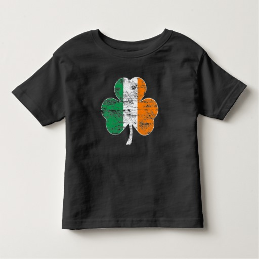 Distressed Irish Flag Shamrock Toddler Fine Jersey T-Shirt