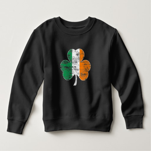 Distressed Irish Flag Shamrock Toddler Fleece Sweatshirt