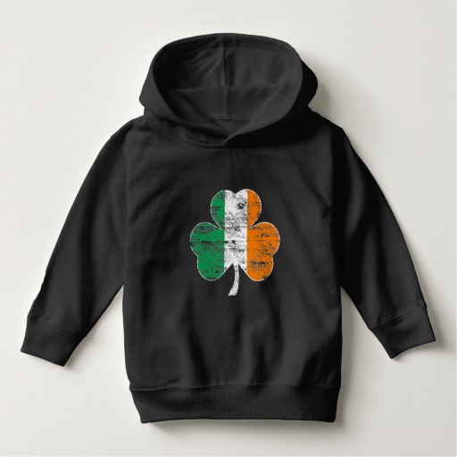Distressed Irish Flag Shamrock Toddler Pullover Hoodie