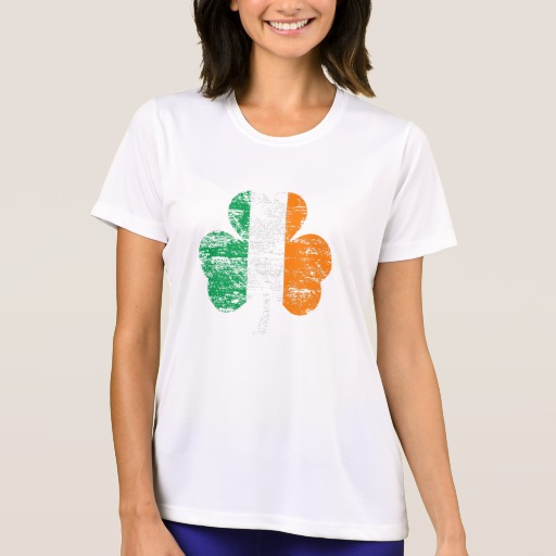 Distressed Irish Flag Shamrock Women's Sport-Tek Competitor T-Shirt