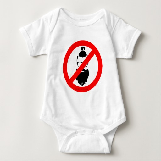 No Hipsters or Man Buns Baby Jersey Bodysuit
