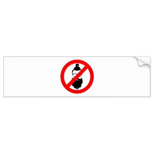 No Hipsters or Man Buns Bumper Sticker